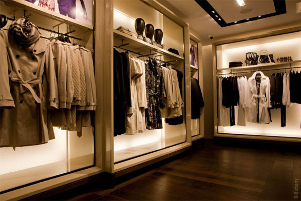Contemporary burberry boutique in paris best home news for Boutique decoration interieur