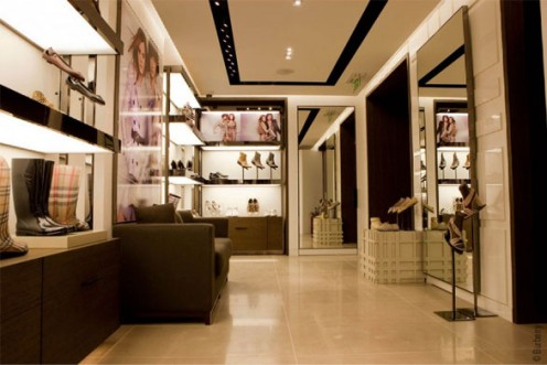 Contemporary Burberry Boutique in Paris