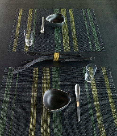 Spring/Summer 2010 Tabletop Collection by Chilewich - Table Ghost Green