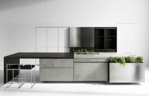 Unusual Concrete Kitchen by Martin Steininger