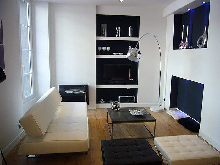 Modern Small Apartment In Black And White