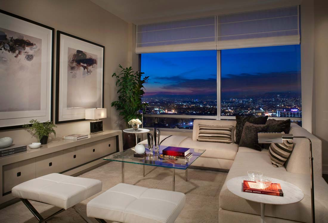 Luxury penthouse at the ritz carlton residences in los for The family room los angeles