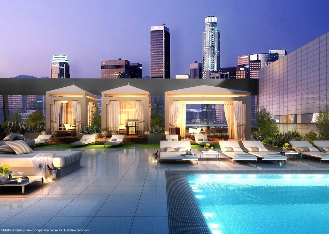 Luxury penthouse at the ritz carlton residences in los for Penthouses in los angeles