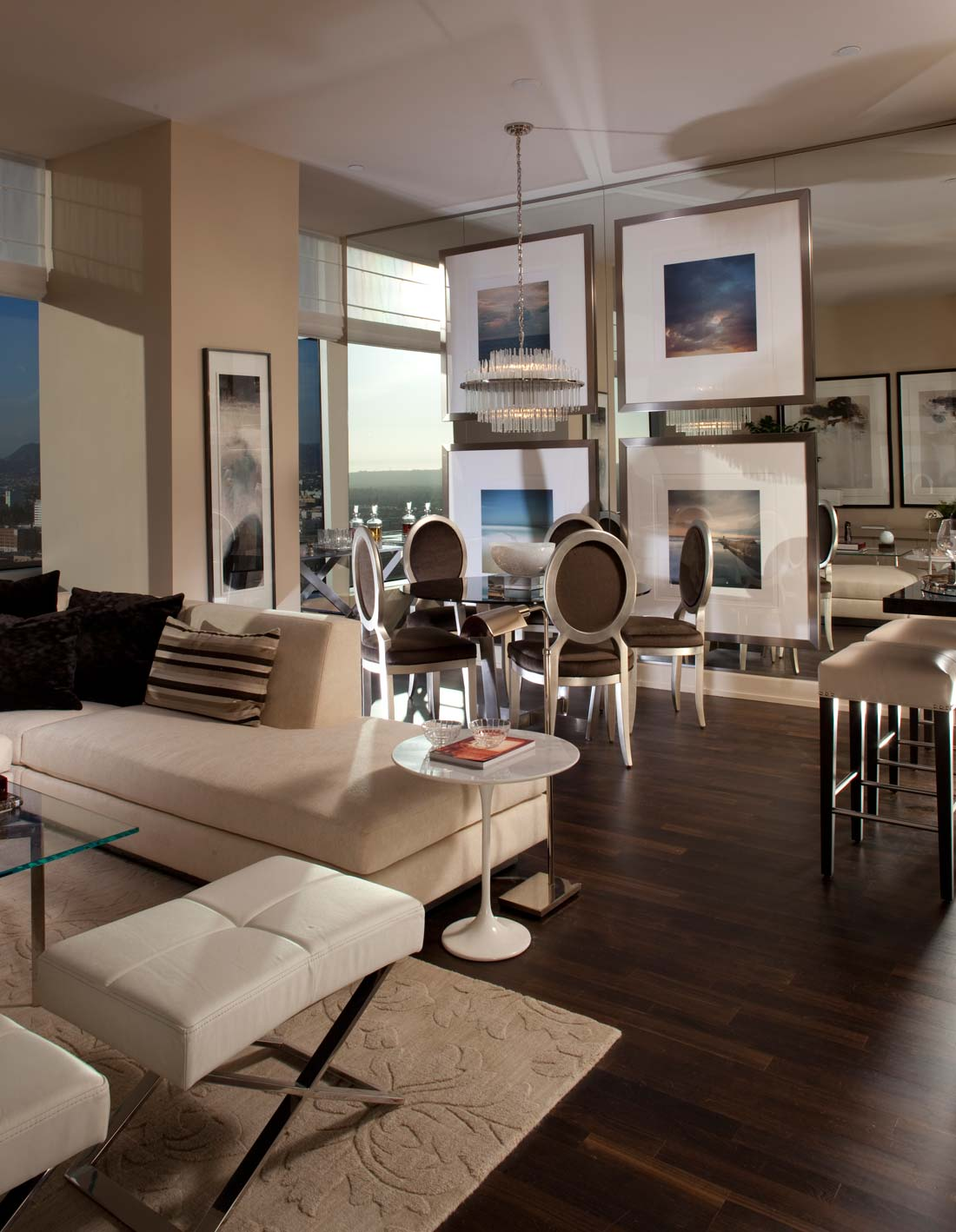 luxury penthouse at the ritz carlton residences in los angeles